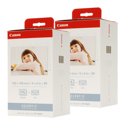 Canon KP-108IN 2 Pack Bundle (Genuine) title=