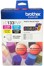 Brother 4-Pack LC133 Value Pack Ink Cartridge Genuine