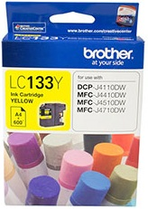 Brother LC133Y Yellow Ink Cartridge Genuine