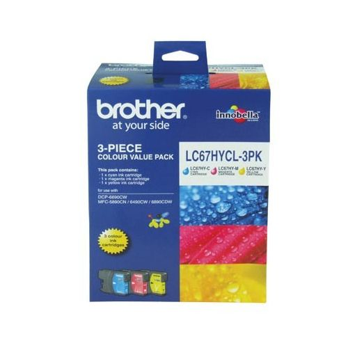 Brother LC67HYCL 3 Pack Bundle (Genuine) title=