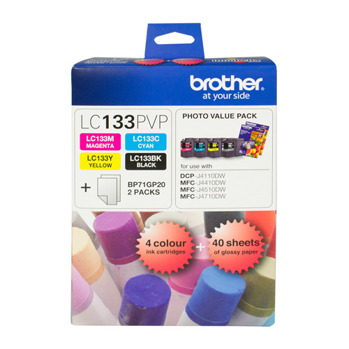Brother LC133 4 Pack Bundle (Genuine) title=