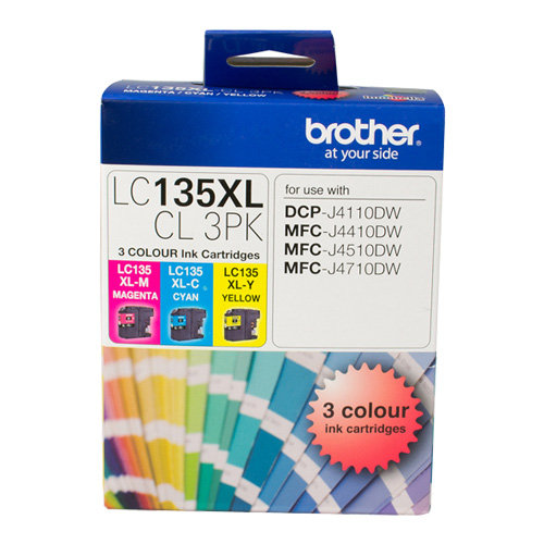 Brother LC135XLCL 3 Pack Bundle (Genuine) title=