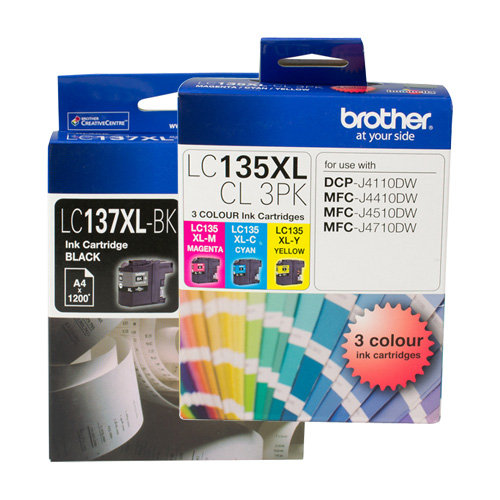 Brother LC137XL/LC135XL 8 Pack Bundle (Genuine)