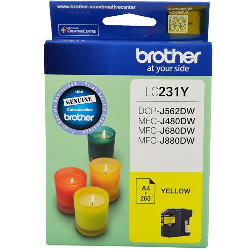 Brother LC231 Yellow Ink Cartridge Genuine