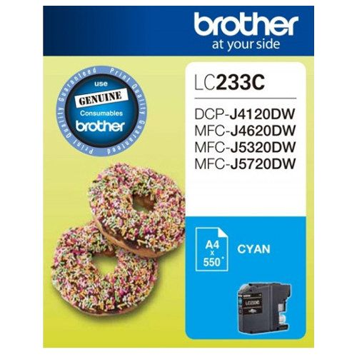 Brother LC233C Cyan (Genuine) title=