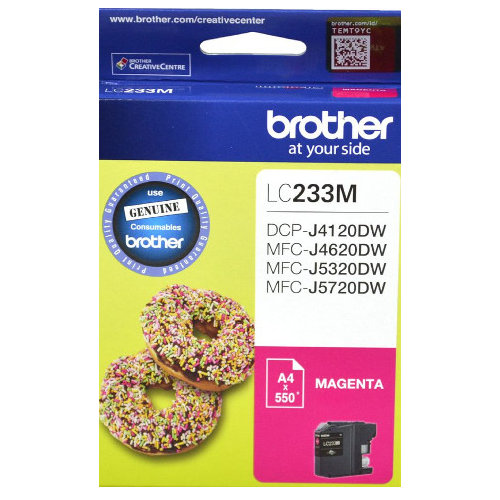 Brother LC233M Magenta (Genuine) title=