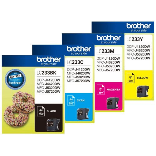 Brother LC233 4 Pack Bundle (Genuine) title=