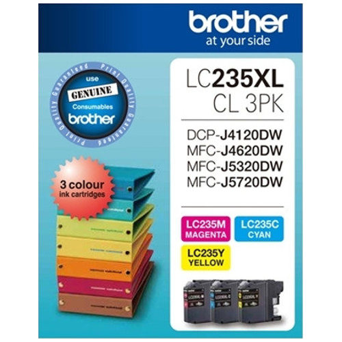 Brother LC235XLCL 3 Pack Bundle (Genuine) title=