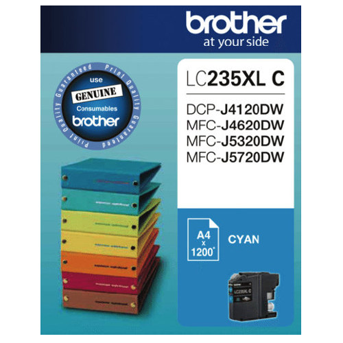 Brother LC235XL C Cyan High Yield (Genuine) title=