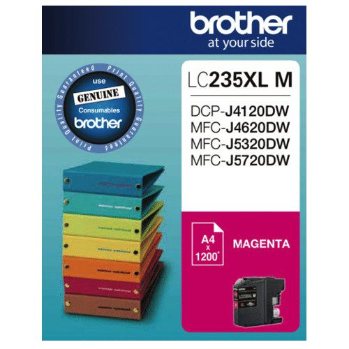 Brother LC235XL M Magenta High Yield (Genuine) title=