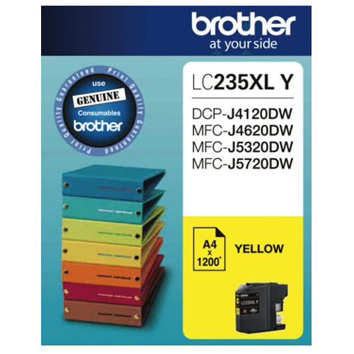 Brother LC235XL Y Yellow High Yield (Genuine) title=