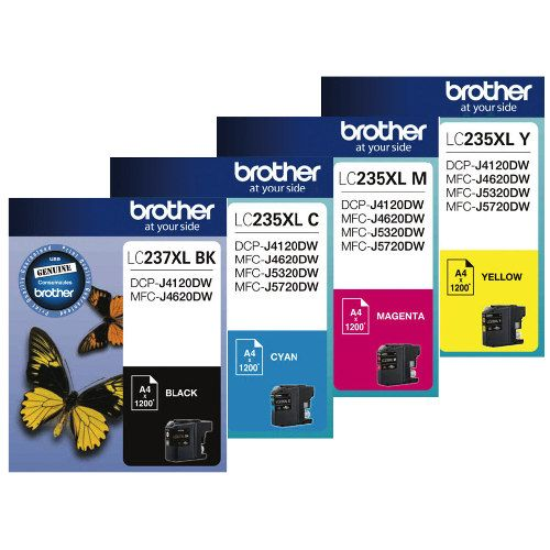 Brother LC237XL/LC235XL 4 Pack Bundle (Genuine) title=