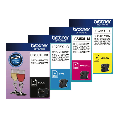 Brother LC239XL/LC235XL 4 Pack Bundle (Genuine) title=