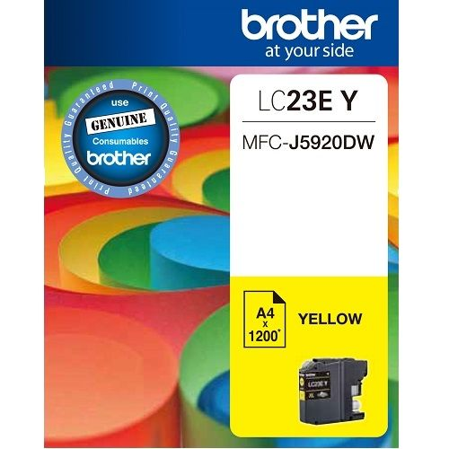 Brother LC23EY Yellow (Genuine)