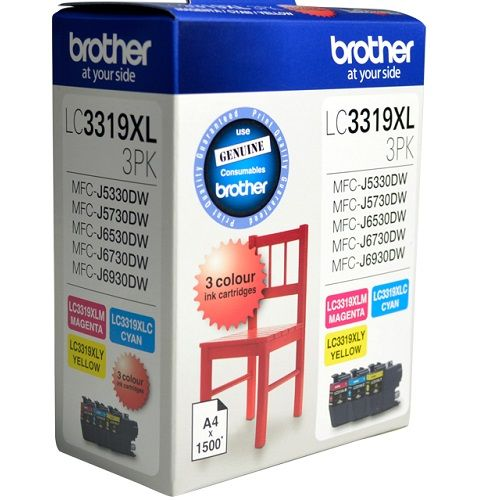 Brother LC3319XL 3 Pack Value Pack (Genuine) title=