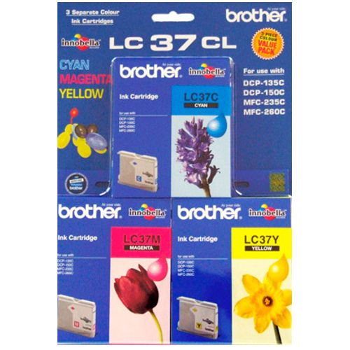 Brother LC37CL 3 Pack Bundle (Genuine) title=