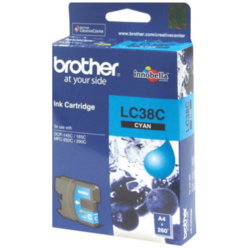 Brother LC38C Cyan (Genuine) title=