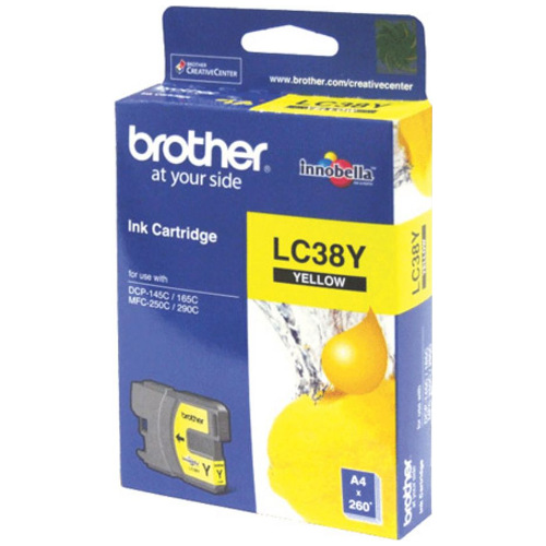 Brother LC38Y Yellow (Genuine) title=