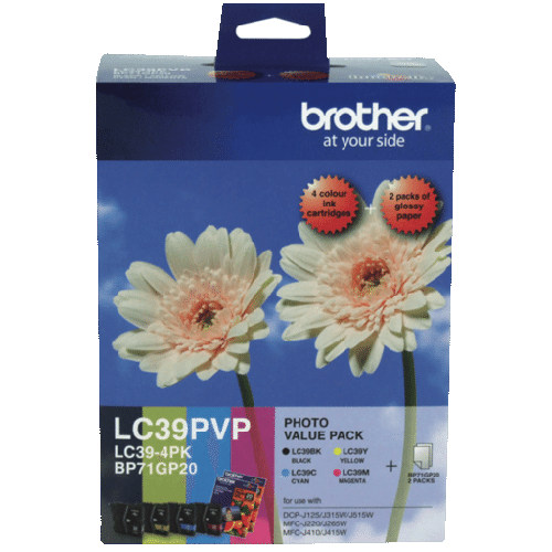 Brother LC39PVP 4 Pack Bundle (Genuine) title=