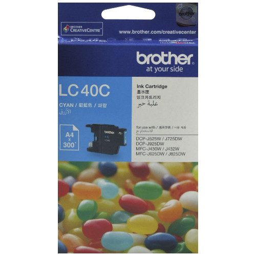 Brother LC40C Cyan (Genuine) title=