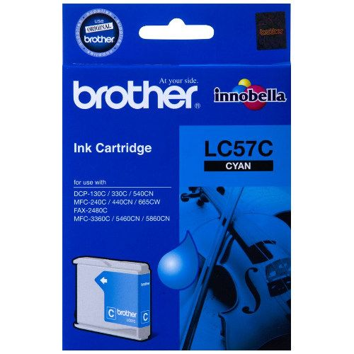Brother LC57C Cyan (Genuine) title=