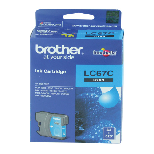 Brother LC67C Cyan Ink Cartridge Genuine