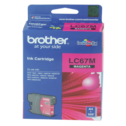 Brother LC67M Magenta (Genuine) title=