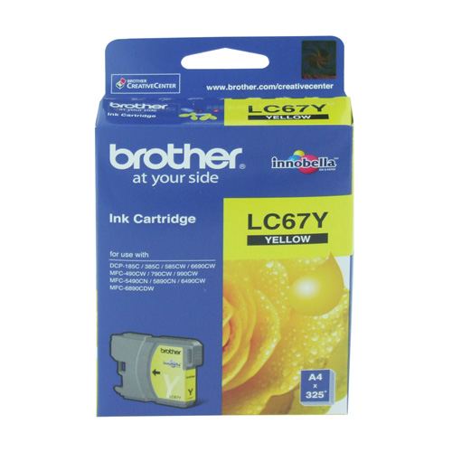 Brother LC67Y Yellow (Genuine) title=