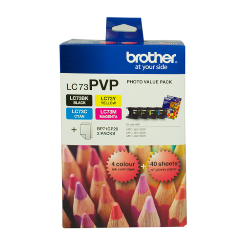 Brother LC73PVP 4 Pack Bundle (Genuine) title=