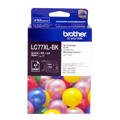 Brother LC77XL-BK Black Extra High Yield (Genuine) title=