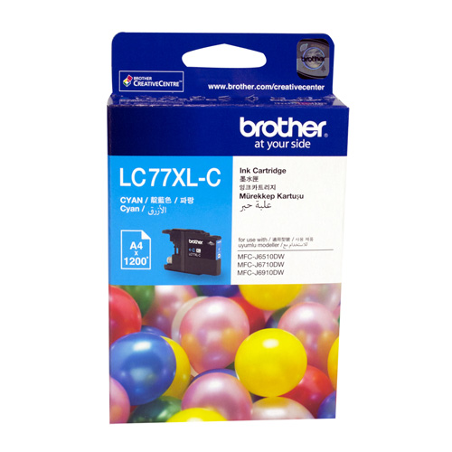 Brother LC77XL-C Cyan Extra High Yield (Genuine) title=