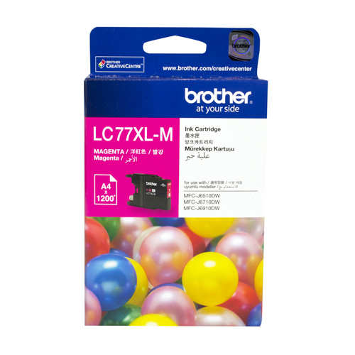 Brother LC77XL-M Magenta Extra High Yield (Genuine) title=