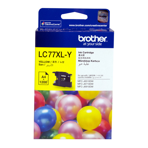 Brother LC77XL-Y Yellow Extra High Yield (Genuine) title=