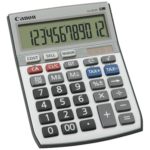 Canon LS-121TS Calculator title=