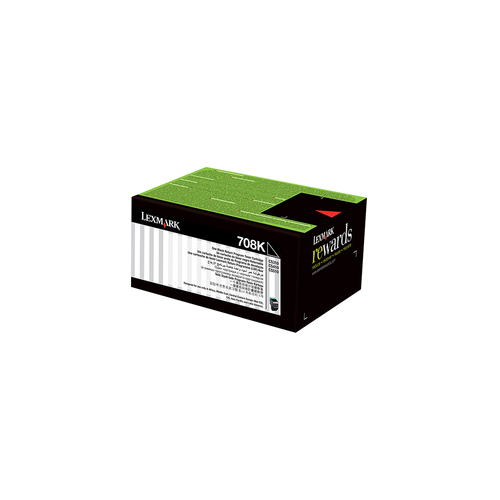 Lexmark 708 Black Prebate (70C80K0) (Genuine)