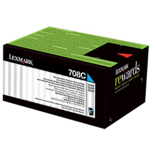 Lexmark 708 Cyan Prebate (70C80C0) (Genuine) title=