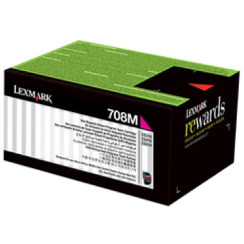 Lexmark 708H Magenta High Yield Prebate (70C8HM0) (Genuine) title=