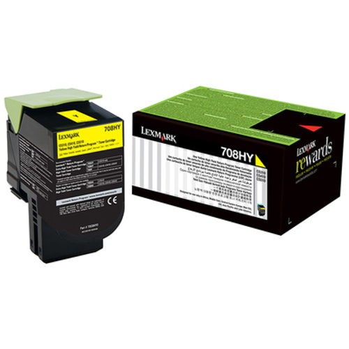 Lexmark 708H Yellow High Yield Prebate (70C8HY0) (Genuine) title=
