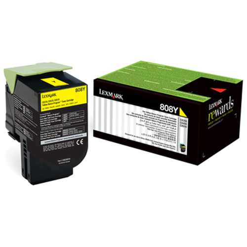 New Lexmark 808SYE Yellow Standard Yield Corporate Printer Toner Cartridge