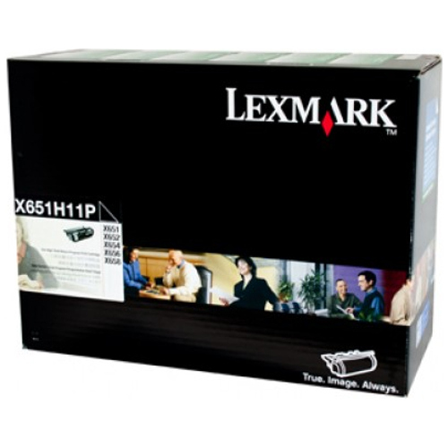 Lexmark X651H11P Black Prebate (Genuine) title=