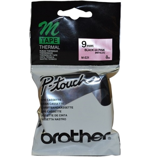 Brother ME-21 Metallic Black on Pink (Genuine) title=