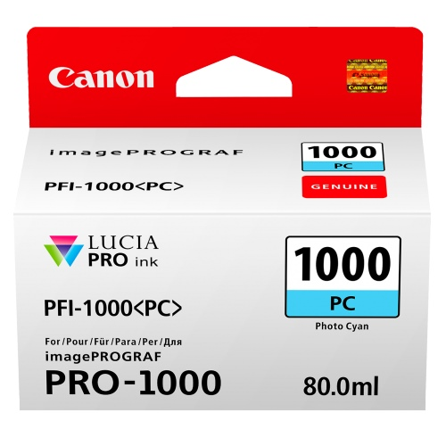 Canon PFI-1000PC Photo Cyan (Genuine) title=