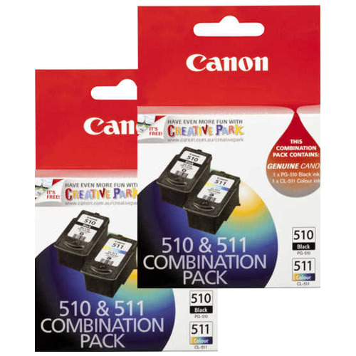 Canon PG-510/CL-511 4 Pack Bundle (Genuine) title=
