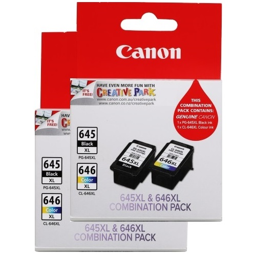 Canon 4-Pack PG-645XL/CL-646XL Value Pack Ink Cartridge Genuine