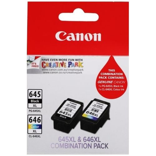 Canon PG-645XL/CL-646XL 2 Pack Value Pack (Genuine)