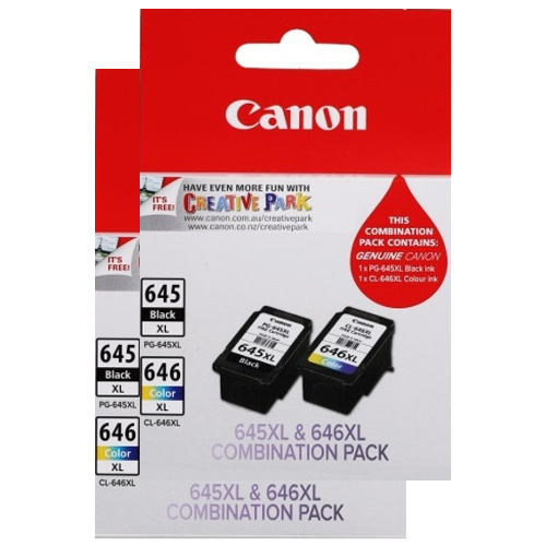 Canon PG-645XL/CL-646XL 4 Pack Value Pack (Genuine) title=