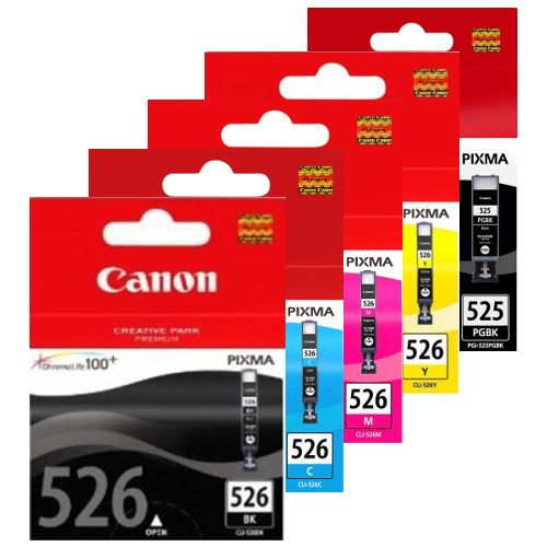 Canon PGI-525BK/CLI-526 10 Pack Bundle (Genuine) title=