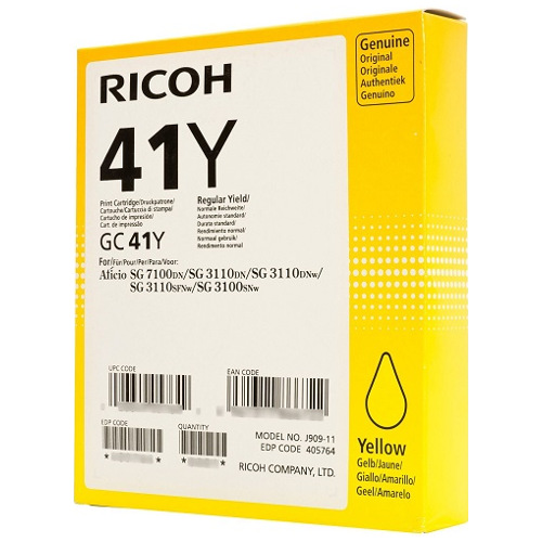 Ricoh 41Y Yellow (405764) (Genuine) title=