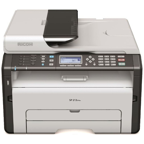 Ricoh SP 213SFNw Multi Function Mono Laser Wireless Printer title=