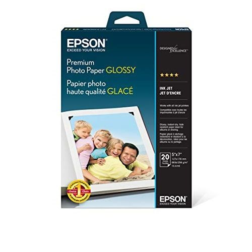 Epson S041464 White 5 x 7 inch Photo Paper title=